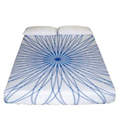Spirograph Pattern Circle Design Fitted Sheet (king Size)