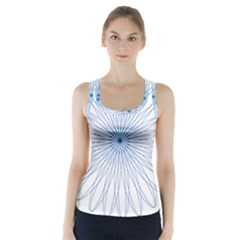 Spirograph Pattern Circle Design Racer Back Sports Top by Nexatart