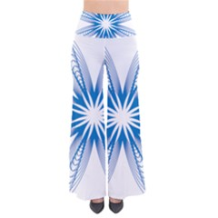 Blue Spirograph Pattern Circle Geometric Pants by Nexatart