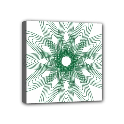 Spirograph Pattern Circle Design Mini Canvas 4  X 4