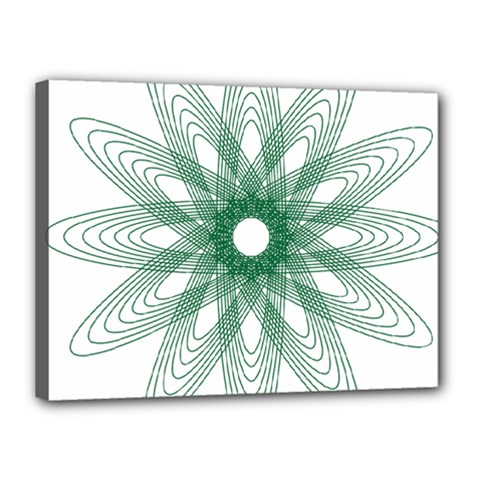 Spirograph Pattern Circle Design Canvas 16  X 12  by Nexatart
