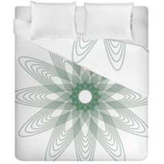 Spirograph Pattern Circle Design Duvet Cover Double Side (california King Size)