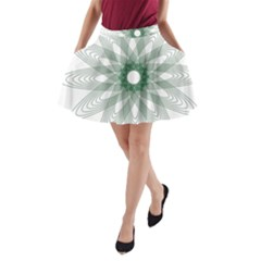 Spirograph Pattern Circle Design A Line Pocket Skirt by Nexatart