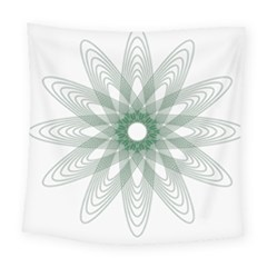 Spirograph Pattern Circle Design Square Tapestry (large) by Nexatart