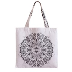 Art Coloring Flower Page Book Zipper Grocery Tote Bag