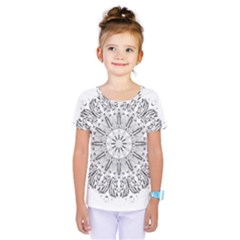 Art Coloring Flower Page Book Kids  One Piece Tee