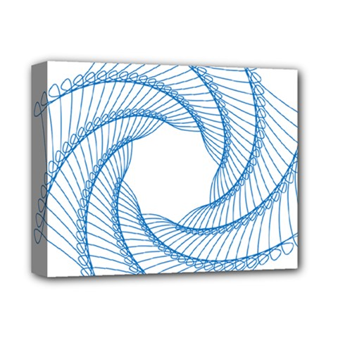 Spirograph Spiral Pattern Geometric Deluxe Canvas 14  X 11  by Nexatart