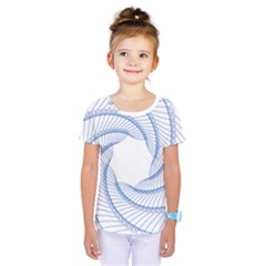 Spirograph Spiral Pattern Geometric Kids  One Piece Tee