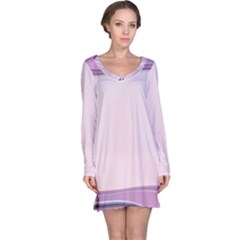 Background Image Greeting Card Heart Long Sleeve Nightdress