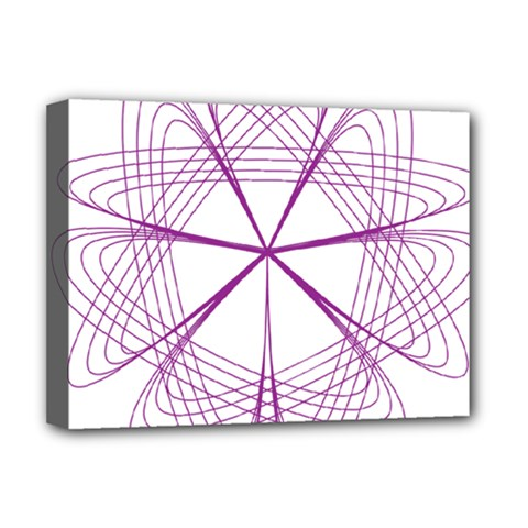 Purple Spirograph Pattern Circle Geometric Deluxe Canvas 16  X 12   by Nexatart