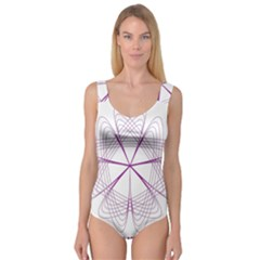Purple Spirograph Pattern Circle Geometric Princess Tank Leotard