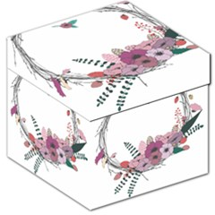 Flowers Twig Corolla Wreath Lease Storage Stool 12   by Nexatart