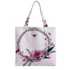 Flowers Twig Corolla Wreath Lease Grocery Tote Bag by Nexatart