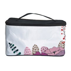 Flowers Twig Corolla Wreath Lease Cosmetic Storage Case