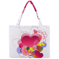 Heart Red Love Valentine S Day Mini Tote Bag