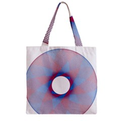 Spirograph Pattern Drawing Design Zipper Grocery Tote Bag by Nexatart