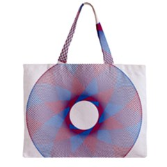 Spirograph Pattern Drawing Design Zipper Mini Tote Bag by Nexatart