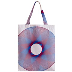 Spirograph Pattern Drawing Design Zipper Classic Tote Bag by Nexatart