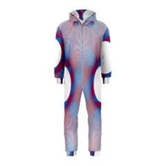 Spirograph Pattern Drawing Design Hooded Jumpsuit (kids)