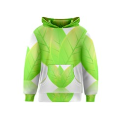 Leaves Green Nature Reflection Kids  Pullover Hoodie