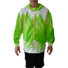 Leaves Green Nature Reflection Hooded Wind Breaker (kids) by Nexatart