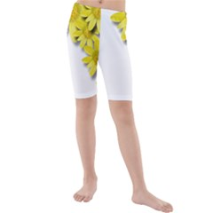 Flowers Spring Yellow Spring Onion Kids  Mid Length Swim Shorts by Nexatart