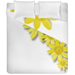 Flowers Spring Yellow Spring Onion Duvet Cover Double Side (california King Size) by Nexatart