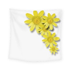 Flowers Spring Yellow Spring Onion Square Tapestry (small) by Nexatart