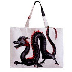 Dragon Black Red China Asian 3d Medium Tote Bag by Nexatart