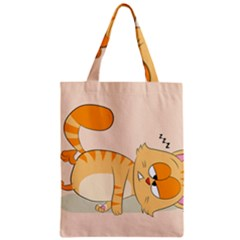 Even Cat Hates Monday Zipper Classic Tote Bag by Catifornia