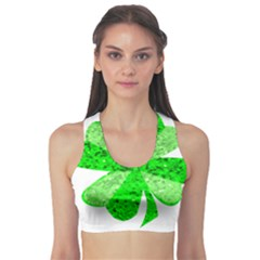 St Patricks Day Shamrock Green Sports Bra