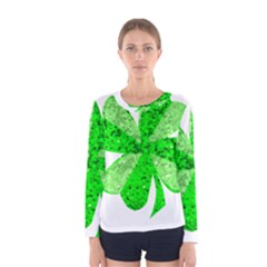 St Patricks Day Shamrock Green Women s Long Sleeve Tee by Nexatart