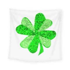 St Patricks Day Shamrock Green Square Tapestry (small) by Nexatart