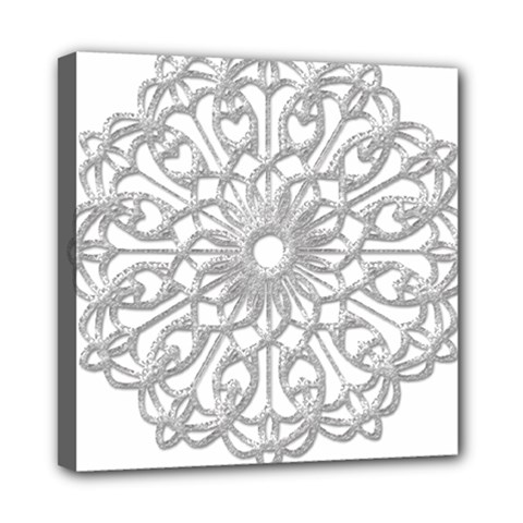 Scrapbook Side Lace Tag Element Mini Canvas 8  X 8
