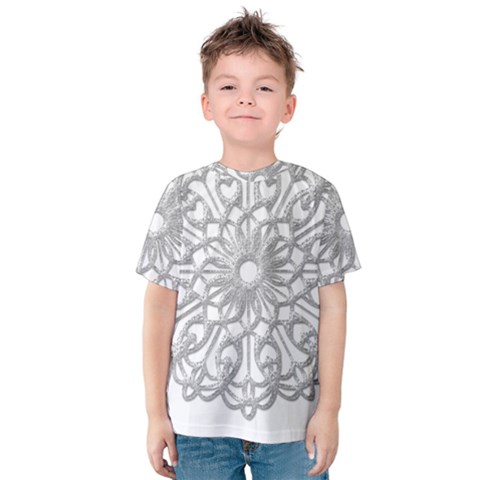 Scrapbook Side Lace Tag Element Kids  Cotton Tee by Nexatart