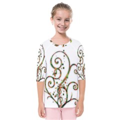 Scroll Magic Fantasy Design Kids  Quarter Sleeve Raglan Tee