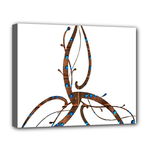 Abstract Shape Stylized Designed Deluxe Canvas 20  X 16   by Nexatart