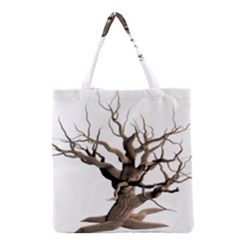 Tree Isolated Dead Plant Weathered Grocery Tote Bag