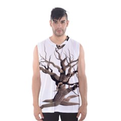 Tree Isolated Dead Plant Weathered Men s Basketball Tank Top