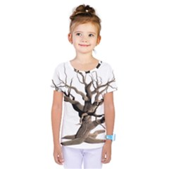 Tree Isolated Dead Plant Weathered Kids  One Piece Tee