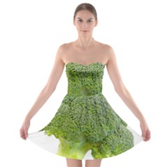 Broccoli Bunch Floret Fresh Food Strapless Bra Top Dress