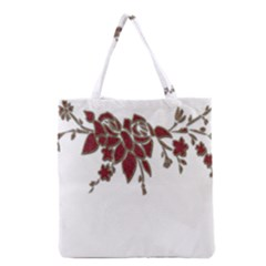 Scrapbook Element Nature Flowers Grocery Tote Bag