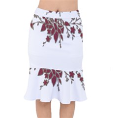 Scrapbook Element Nature Flowers Mermaid Skirt