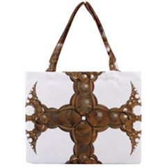 Cross Golden Cross Design 3d Mini Tote Bag by Nexatart