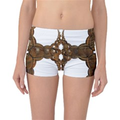 Cross Golden Cross Design 3d Boyleg Bikini Bottoms