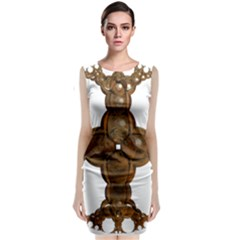 Cross Golden Cross Design 3d Classic Sleeveless Midi Dress
