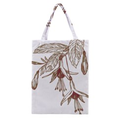Floral Spray Gold And Red Pretty Classic Tote Bag by Nexatart