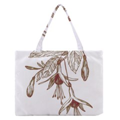 Floral Spray Gold And Red Pretty Medium Zipper Tote Bag by Nexatart