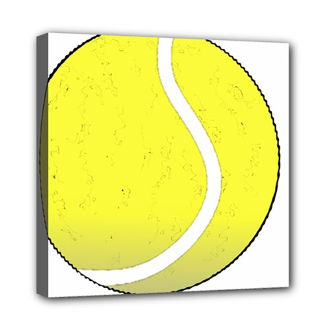 Tennis Ball Ball Sport Fitness Mini Canvas 8  X 8