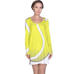 Tennis Ball Ball Sport Fitness Long Sleeve Nightdress